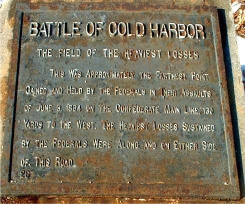 Battle Of Cold Harbor Casualties